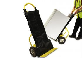 Sack truck cover in use transporting white goods