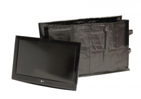 TV Bag with a TV ready for storage